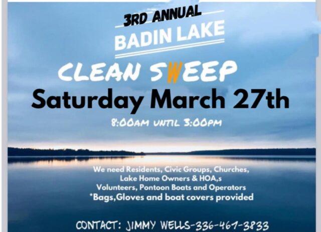 3rd Annual Badin Lake Operation Clean Sweep